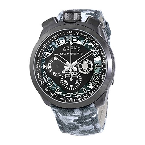 Bomberg Bolt-68 BS45CHPGM.019.3 - Reloj cronógrafo para Hombre, diseño de Camuflaje, Color Gris