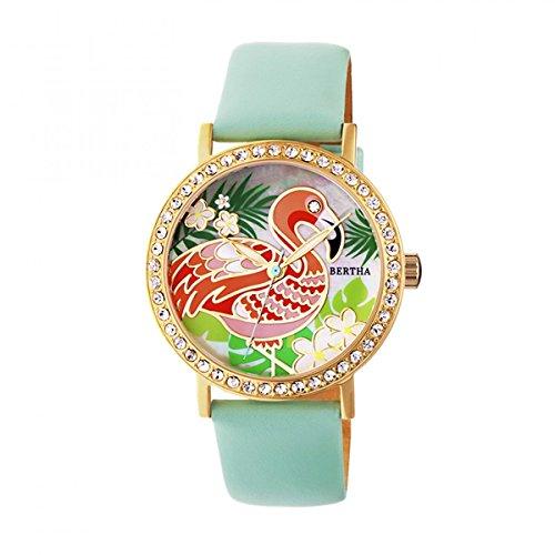 Bertha br7704luna reloj de pulsera para mujer