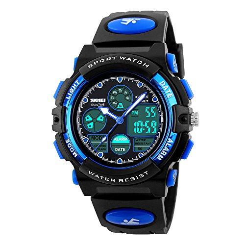 Relojes, relojes digitales, relojes para niños, relojes deportivos o para uso al aire libre, relojes digitales impermeables con alarma, calendario y cronómetro