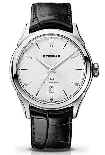 Eterna–1948Fecha–Reloj de pulsera analógico automático para hombre 2950.41.11.1175