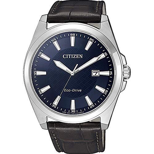 Citizen Reloj Analógico para Hombre de Cuarzo con Correa en Cuero BM7108-22L