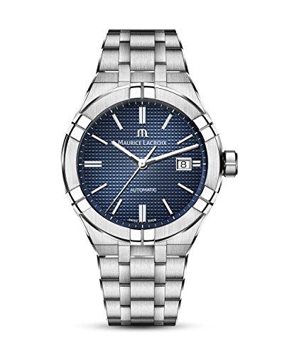 Reloj Automático Maurice Lacroix Aikon Gents, 42 mm, Azul, Brazalete de acero