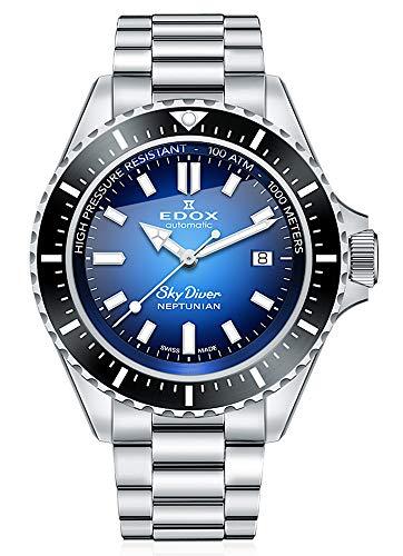 EDOX Skydiver Neptunian 80120 3NM BUIDN - Reloj de pulsera para hombre (analógico, automático)