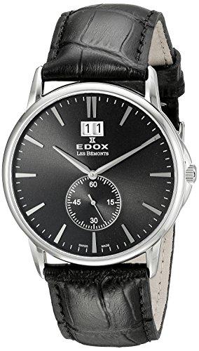 Edox Reloj Analógico para Unisex de Cuarzo con Correa en Cuero 64012 3 NIN