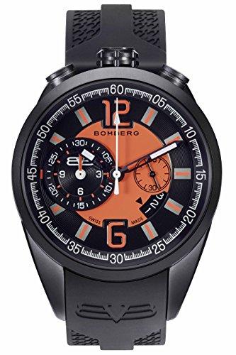Bomberg Reloj Cronógrafo para Hombre de Cuarzo con Correa en Silicona NS44.0086