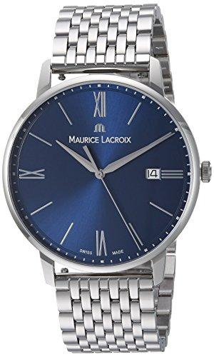 Maurice Lacroix Reloj analógico para Hombres de con Correa en Acero Inoxidable EL1118-SS002-410-2