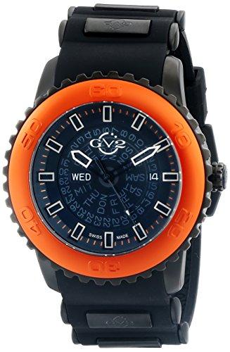 Gevril Reloj Analógico para Hombres de Cuarzo con Correa en Silicona 9704