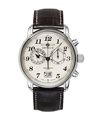 Zeppelin Reloj Cronógrafo de Cuarzo para Hombre con Correa de Piel – 76845