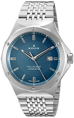 Edox Reloj de Cuarzo Suizo para Hombre 53005 3M BUIN Delfin con Pantalla analógica