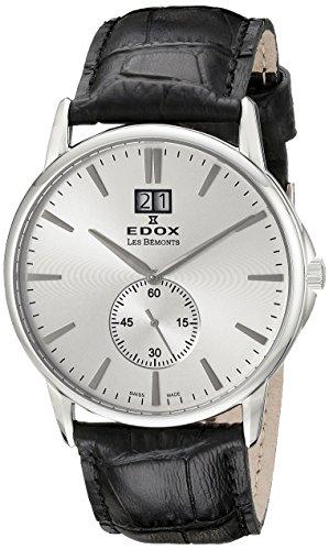 Edox Reloj Analógico para Unisex de Cuarzo con Correa en Cuero 64012 3 AIN
