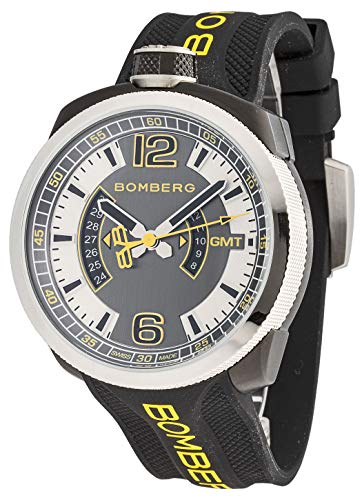 Bomberg BS45GMTSP.027.3 Bolt-68 GMT - Reloj de pulsera analógico para hombre