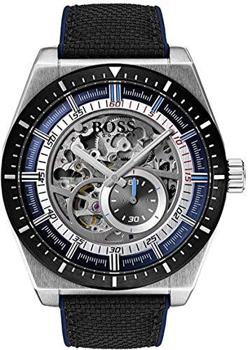 Hugo Boss Reloj Esqueleto para Hombre Automático con Correa en Cuero 1513643