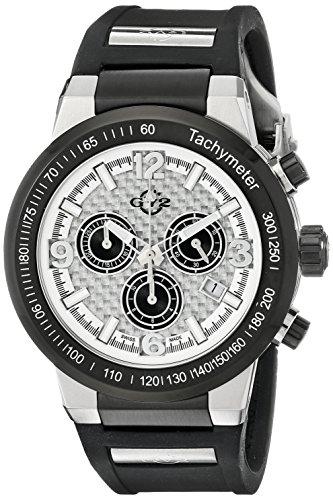 Gevril 8204 - Reloj de Pulsera Hombre, Silicona, Color Negro