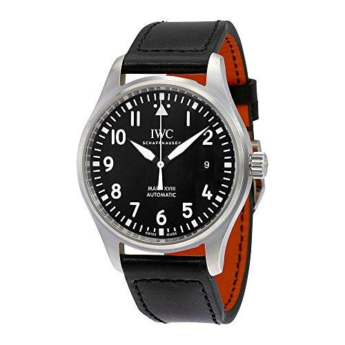 IWC Hombres de Cuarzo Reloj de Acero Inoxidable, Color: Negro (Modelo: iw327001)