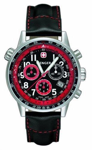 Wenger 'Commando Racing Team' - Reloj de Caballero de Cuarzo, Correa de Piel Color Negro