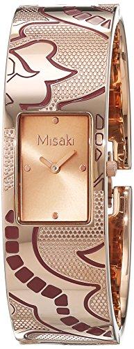 Misaki QCRWELISALARGE - Reloj para Mujer, Cuarzo, analógico, Correa de Acero Inoxidable Dorado