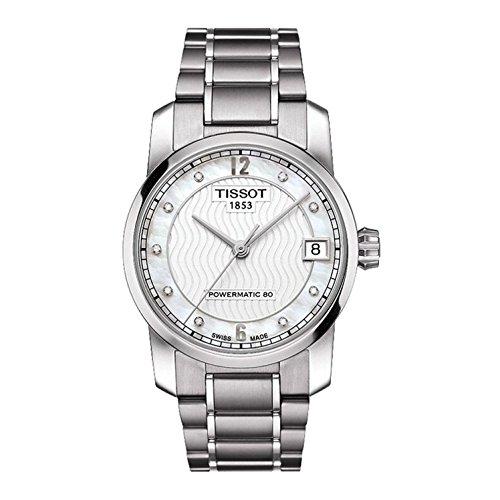 Tissot T-Classic T0872074411600 - Reloj automático para Mujer (Esfera de nácar y Titanio)