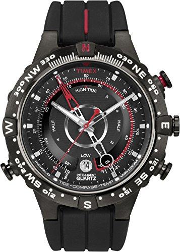 Timex Intelligent Quartz - Reloj análogico para Hombre de cuarzo con correa de silicona, color Negro