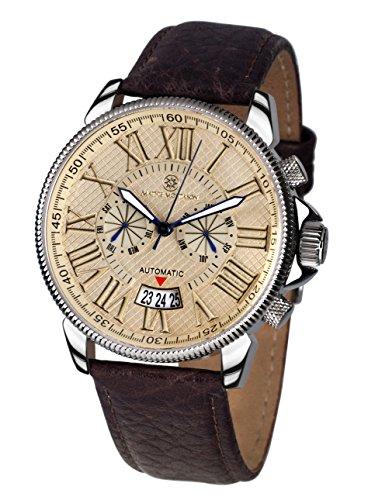 Mathis Montabon 100011-U - Reloj para Hombres, Correa de Cuero Color marrón