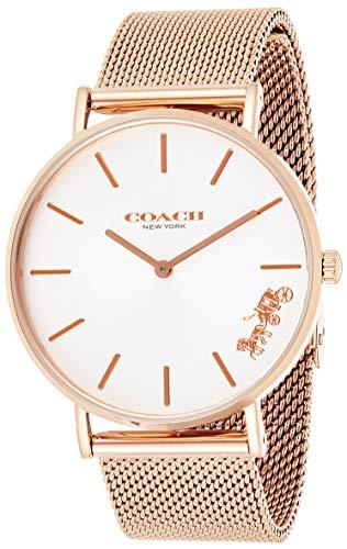 Coach Reloj de Pulsera de Malla de Oro Rosa Perry para Mujer 14503126