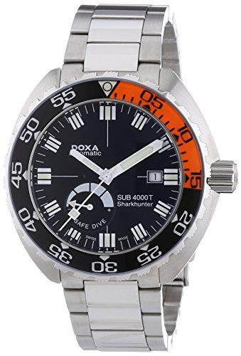 DOXA 876.10.101.10 - Reloj analógico automático para Hombre, Correa de Acero Inoxidable Color Plateado
