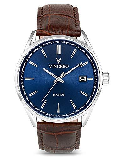 Vincero KAIR-BLUBR - Reloj de pulsera hombre, Cuero, color Marrón