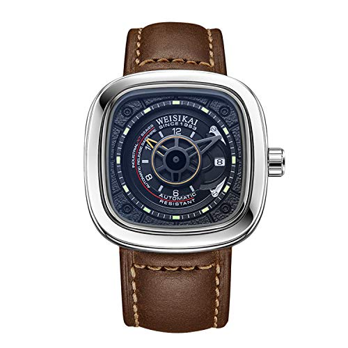 RORIOS Deportes Reloj de Hombre Clásico Relojes de Pulsera Mecánico Automático Calendario Luminous Dials Hombres Relojes Mecánico