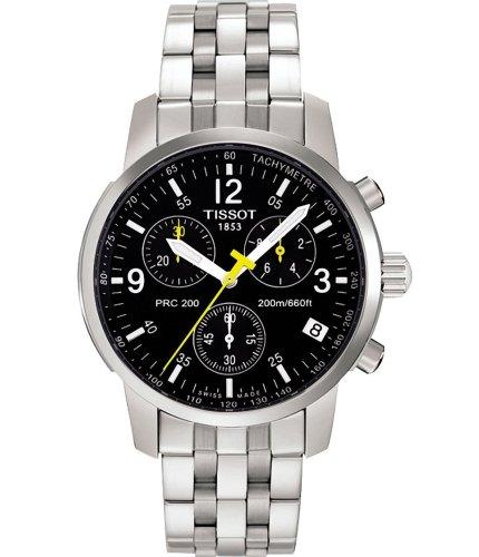 Reloj Tissot PRC 200Cuarzo t17158652(batería) acero quandrante negro correa acero