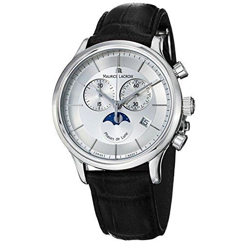 para Hombre Maurice Lacroix Les Classiques Phases de Lune Cronógrafo Reloj LC1148-SS001–131