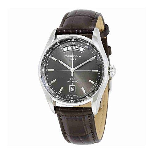 Certina 1888 – Swiss Made - Reloj, con Correa de Acero Inoxidable, de Color Negro