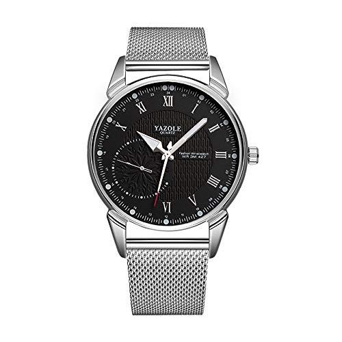 Unendlich U-Fashion Reloj Pareja Reloj de Cuarzo Ultrafino para Hombre Mujer Moda Relojes de Pulsera Casual Impermeable de Acero Inoxidable Idea Regalo para Pareja Dial de Números Romanos