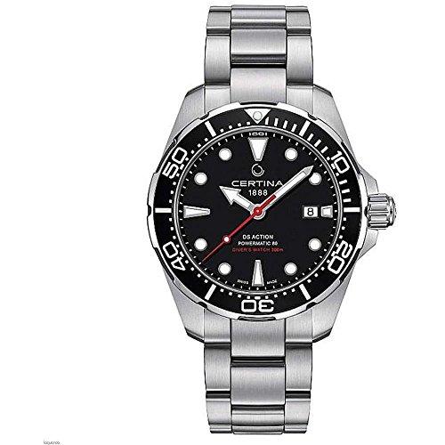 Certina DS Action 43mm Reloj automático de pulsera de acero para hombre C032.407.11.051.00